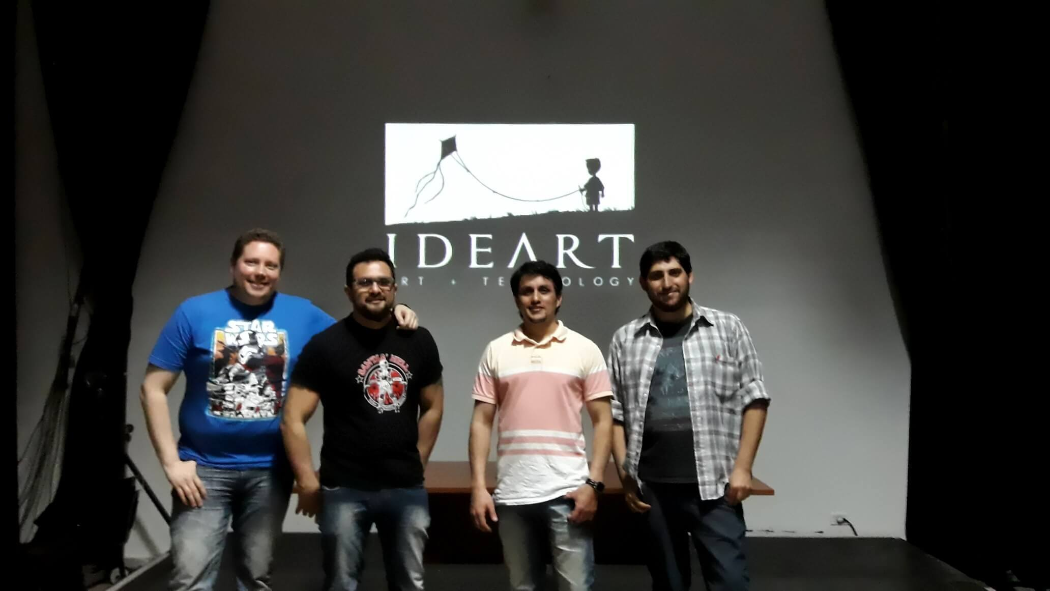Speaker and organizers of the ideart talk.